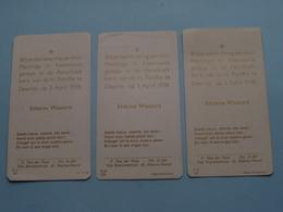 H. Kommunie Van Etienne WAUTERS Op 3 April 1938 Te DEURNE H. Familie ( Zie Foto's ) 3 Stuks ! - Communion