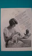 Ancienne Pub Café Sanka,jeune Femme Donnant Le Sein A Son Bébé - Pubblicitari