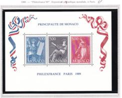 Monaco - Bloc Feuillet - 1989 - BF N°47** - Blocs
