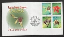 PAPUA NUOVA GUINEA - 15 9 98 FDC ORCHIDEE - Orchidee