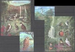 PK165 TUVALU FAUNA BIRDS OF TUVALU & THE SOUTH PACIFIC 2BL+2KB MNH - Oiseaux