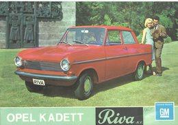 Folder: OPEL KADETT A  - Sedan, Coupé & Caravan 1100 - RIVA N.V.,1965 - Amsterdam / 's-Gravenhage (12 Scans) - Auto/moto