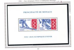 Monaco - Bloc Feuillet - 1994 - BF N°63** - Blocks & Sheetlets