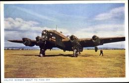 Cp Halifax Bomber About To Take Off, Britisches Kampfflugzeug, Handley Page Halifax - Zonder Classificatie