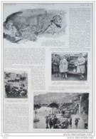 Rallye Automobile De Monte Carlo - Dessin De Geo Ham - Page Original 1932  ( 3 ) - Historical Documents