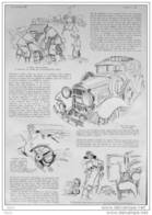Rallye Automobile De Monte Carlo - Dessin De Geo Ham - Page Original 1932  ( 2 ) - Historical Documents