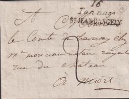 LETTRE DE CHARENTE-MARITIME AVEC CURSIVE DE TONNAY LAC 1819 SUP - Storia Postale