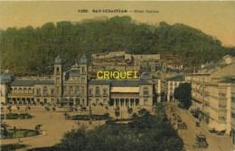 Espagne, San Sebastian, Gran Casino, Tramway..., Belle Carte Toilée Colorisée - Guipúzcoa (San Sebastián)