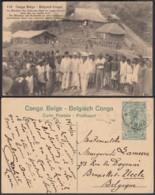 """CONGO EP VUE 15C VERT """"N°110 Congo Belge Le Ministre Des Colonies Dans Un Poste D'achat """" (DD) DC7058 - Interi Postali"""