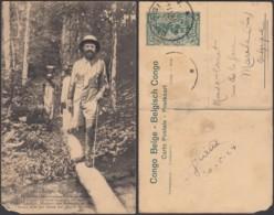 """CONGO EP VUE 15C VERT """"N°111 Congo Belge M.Franck Ministre Des Colonies En Route à Travers La Forêt """" (DD) DC7060 - Stamped Stationery"""