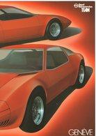 Poster / Affiche: OPEL  GT  CONCEPT CAR - 'Genève' - (61,5 Cm X 29,5 Cm) - 1975 - Auto/moto