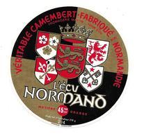 ETIQUETTE De FROMAGE..CAMEMBERT Fabriqué En NORMANDIE..L'Ecu Normand..Fromagerie MARTIN à VIRE ( Calvados 14-Q) - Cheese