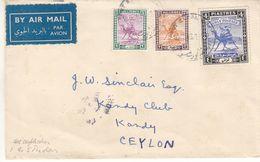 Grande Bretagne - Soudan - Lettre De 1946 - Oblit Khartoum - Exp Vers Le Ceylon - Sudan (...-1951)