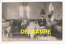 DD / GUERRE 1914 - 18 / 1914 / NANTES 44 / BLESSÉS DANS UNE SALLE DE L' HÔPITAL TEMPORAIRE N° 3 , RUE MONTDÉSIR / 1916 - Guerra 1914-18