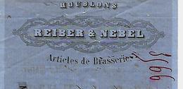 Traite 1880 / 67 STRASBOURG /  REIBER & NEBEL / Articles De Brasserie - Bills Of Exchange