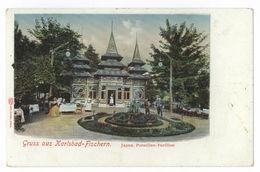 Gruss Aus Karlsbad-Fischern Japan Porzellan-Pavillon Karlovy Vary - Sudeten