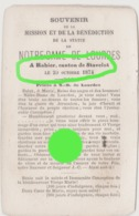Paroisse De Rahier ( Stoumont ) 1874 Canton De Stavelot / Souvenir De Mission / RARE - Devotion Images