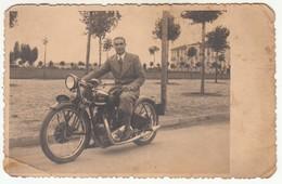 MOTO MOTORCYCLE LINX TORINO - FOTOCARTOLINA ORIGINALE ANNI '40 - Other