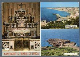 °°° Cartolina - Leuca Santuario S. Maria De Finibus Terrae Viaggiata °°° - Lecce