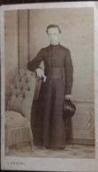 """Photographie Italienne J.Sereni, écrite En 1868 De Chambéry (73, Savoie) Signée """"Otto Jardelli ?"""", Prêtre, Curé,Religion - Fotos"""