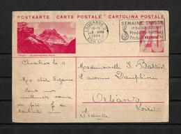BILD - POSTKARTE → Tödi - Glarberalpen, Karte Von Lausanne Nach Orleans 1934 - Entiers Postaux