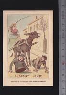 Chromo Fin XIXè / Chocolat Louit / Homme Tronc Se Déplaçant Avec Des Fers, Dérision Du Handicap - Other