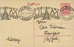 Entier Postal 40 Deutsche Reich  Cachet  ULM Nr1(DONAU)  Flamme Besuchet ULM - Allemagne