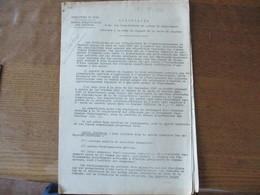LILLE LE 1er SEPTEMBRE 1940 CIRCULAIRE RELATIVE A LA MISE EN VIGUEUR DE LA CARTE DE CHARBON LE PREFET F.CARLES 4 PAGES - Documents Historiques