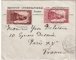 EGYPTE 1927 LETTRE DE CAIRE INSTITUT STATISTIQUES - Égypte