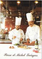 PIERRE Et MICHEL TROISGROS - Hôtel-Restaurant (face à La Gare) Tél 77.71.66.97 (imprimé à Ambierle) - Roanne