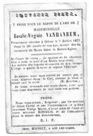 Rosalie Vanhanrem Odeur (Crisnée) 1877 - Obituary Notices