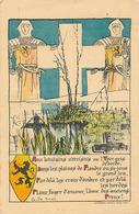 AUX LOINTAINS ATTRISTES OU L'YSER GRIS DEBORDE DANS LES PLAINES DE FLANDRE OU SE JOUE LE GRAND  (DESSIN DE G. DE SMET) - Patriotic