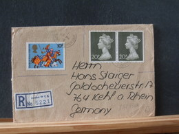 85/430A REGISTRED LETTER TO GERMANY - 1952-.... (Elisabetta II)