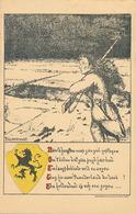 NAAR D'HOOGTEN WAS ZUBZIEL  - YSER 1916 (DESSIN DE F. CLAERMOUDT) - Patriotiques