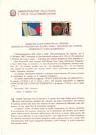 Bollettini Emissione Francobolli Celebrativi Del 1980 -  18  Bollettini Annata Completa - 1946-.. République