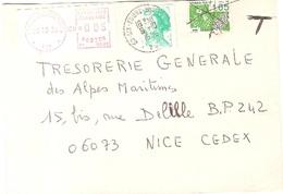 France VAR Lettre Recommandée Taxée 1986 SIX FOURS - 942 - Marcophilie (Lettres)