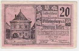 Österreich Austria Notgeld 20 HELLER FS1235 WILHELMSBURG /175M/ - Autriche