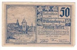 Österreich Austria Notgeld 50 HELLER FS1235 WILHELMSBURG /175M/ - Autriche