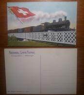Helvetia Train  - 1883 Verlag Festersen NON Viaggiata Anni '900 Svizzera Suisse CH Helvetia - Svizzera
