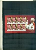 S.LUCIA HOMMAGE AU PAPE JEAN-PAUL II 1 MINI-FEUILLE NEUF A PARTIR DE 2.50 EUROS - St.Lucie (1979-...)