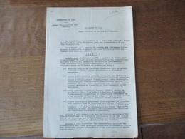 LILLE LE 1er SEPTEMBRE 1940 BUREAU DEPARTEMENTAL DES CHARBONS LE PREFET F.CARLES ARRÊTE REPARTITION EQUITABLE DES COMBUS - Documents Historiques