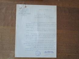 LILLE LE 7 NOVEMBRE 1940 BUREAU DEPARTEMENTAL DES CHARBONS DISTRIBUTION DE CHARBON AUX INDIGENTS ET NECESSITEUX - Documents Historiques