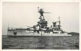 """BATEAU DE GUERRE -Cuirassé """"Lorraine""""""""  Marius éditeur Toulon.. - Krieg"""