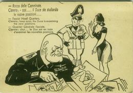 EROTIC HUMORISM -  HUMOUR / HUMOR NAZI FASCISM PROHIBITED MUSSOLINI EXAMINING THE NEW POSITIONS - 1960s/70s ( BG848) - Humour