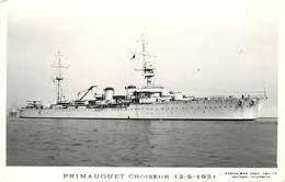 """BATEAU DE GUERRE -Croiseur """"Primauguet"""" ,Marius éditeur Toulon.. - Krieg"""
