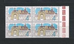Czech Republic 1993 MNH ** Mi 7 Sc 2883 UNESCO Brevnov Monastery. Kloster. Tschechische Republik. Block Of Four. C3 - Czech Republic