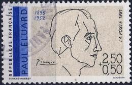2681 PAUL ELUARD OBLITERE ANNEE 1991 - France