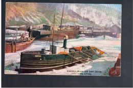 RUSSIA Siberia- In An Ice Dry Dock. Lake Baikal Ca 1915 Old  Postcard - Russland