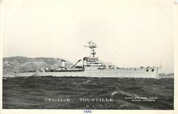 """BATEAU DE GUERRE -Croiseur """"Tourville"""" ,Marius éditeur Toulon.. - Krieg"""