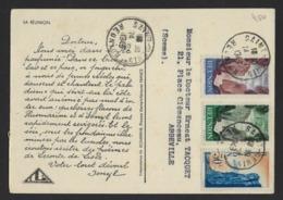 CARTE MEDICALE * IONYL * PLASMARINE * MADAGASCAR * LA REUNION * 1949 *   2 SCANS - Madagaskar (1889-1960)